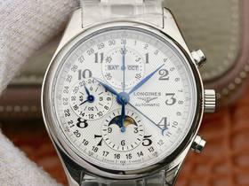 浪琴名匠八针月相手表怎么调时间?