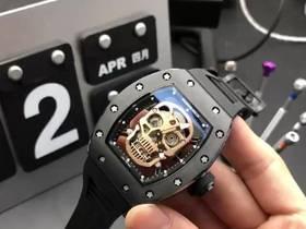 理查德米勒RM52-01镂空骷髅头机械表实拍视频