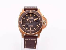 VS厂沛纳海968潜行系列青铜棕色陶瓷腕表