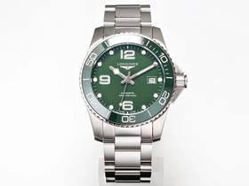 TW厂浪琴康卡斯潜水系列绿面款男士机械腕表