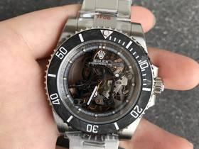 WWF厂劳力士全镂空潜航者碳纤维水鬼改装腕表