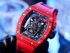 JB厂理查德米勒RM52-01骷髅头陀飞轮腕表