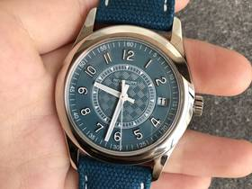 ZF厂百达翡丽6007A,钢款运动蓝盘三针腕表
